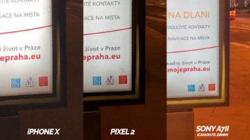 nocni tabule detail google pixel 2 iphone X apple