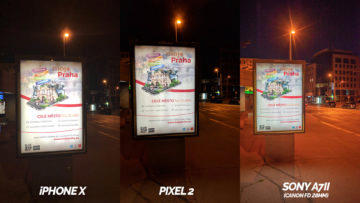 nocni tabule fotografie pixel 2 vs apple iphone X