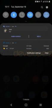 notifikace android 9 pie samsung