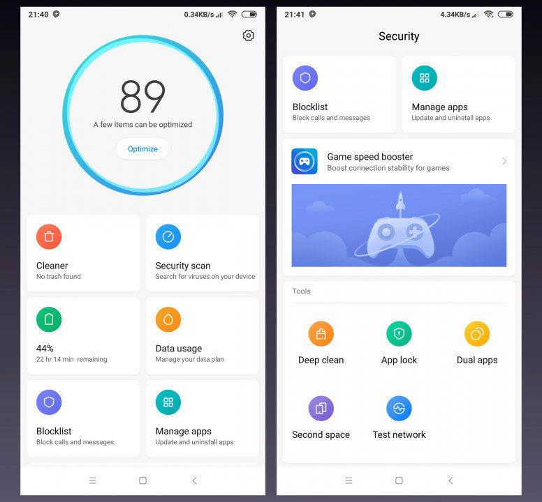 xiaomi miui 10 aplikace optimalizace novy design