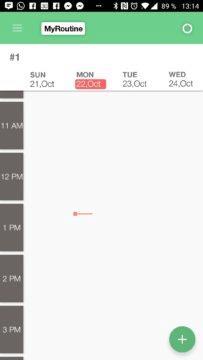 Úvodní obrazovka SmartPlanner
