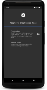 Adaptive Brightness Tile
