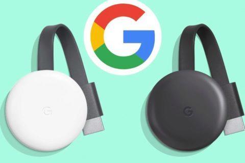 Chromecast 2018 v bílé a černé barvě