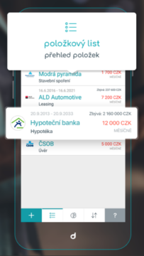 Debito aplikace android