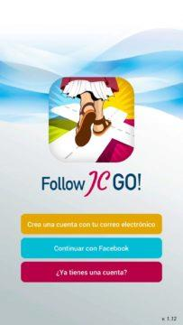 Follow JC Go - registrace