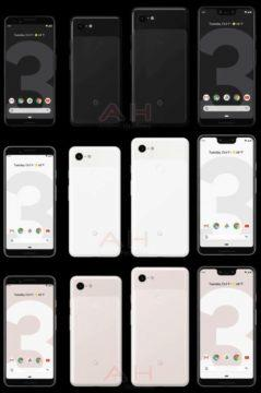Google Pixel 3 a XL vzhled a barevné varianty