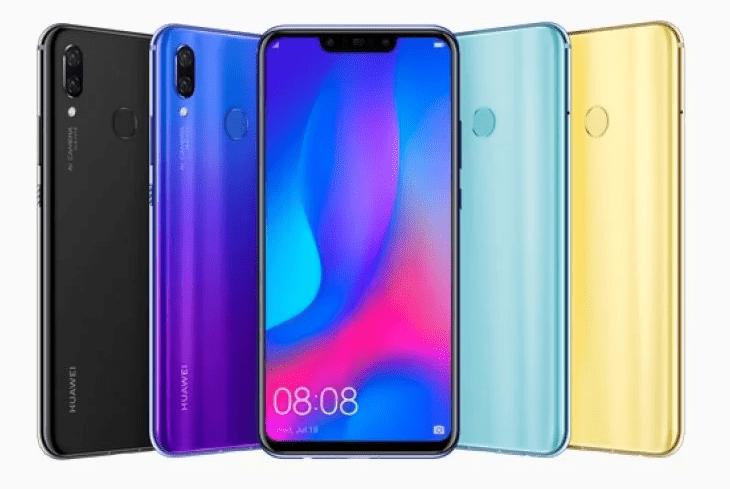 Huawei Nova 3 barevné varianty