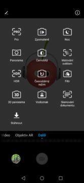 Huawei Nova 3 fotoapp režimy