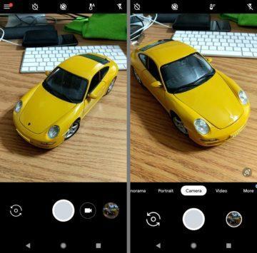 Srovnání staré verze Google Camera s novou