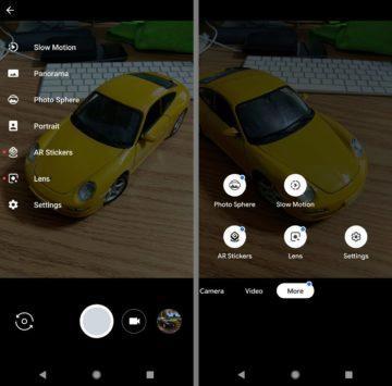 Srovnání staré verze Google Camera s novou režimy