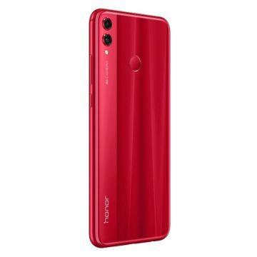 Telefon Honor 8X červený - záda