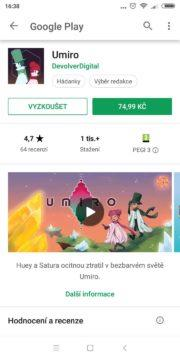 Umiro - placená hra bez instalace