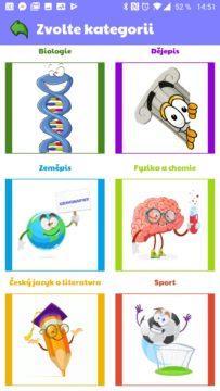 Výběr ze šesti kategorií (osmi témat)