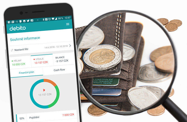 debito android aplikace