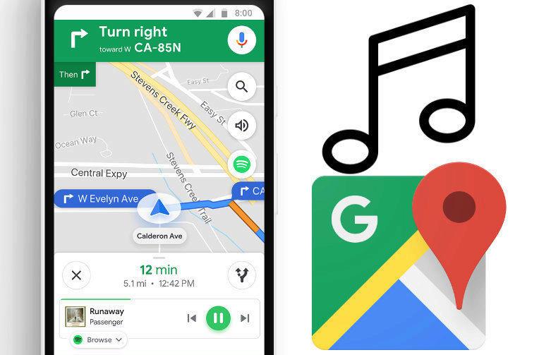 google mapy novinky nove funkce hudba