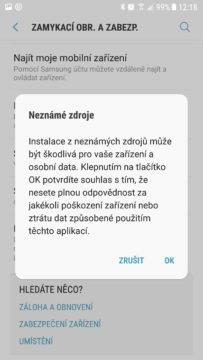 jak instalovat apk soubory android