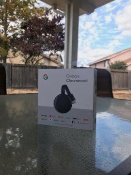 krabicka google chromecast 3