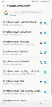 problem se synchronizaci uctu google play