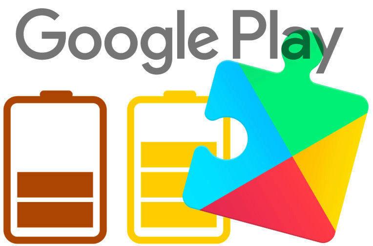 sluzby google play baterie