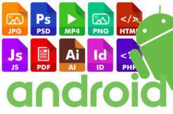 typy souborů android otevreni