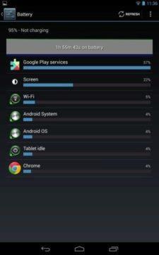 vydrz baterie android sluzby google play