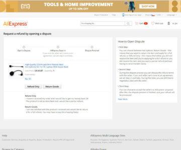 Jak na reklamaci zboží Aliexpress - Jak otevřít spor
