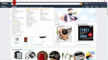 Amazon jak nakupovat - kategorie
