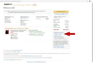 Amazon jak nakupovat - konverze měny