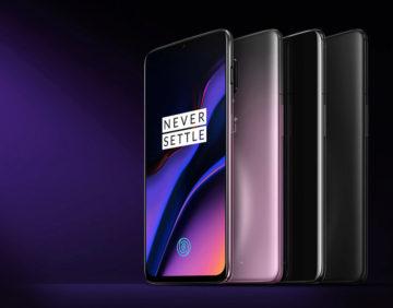Fialový OnePlus 6T - tři barvy