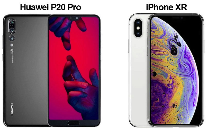 Huawei P20 Pro vs Apple iPhone XS