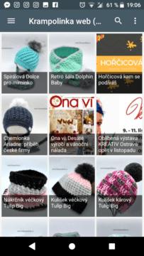 Krampolinka Crochet aplikace