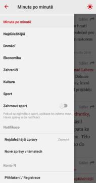 Minuta po minutě aplikace