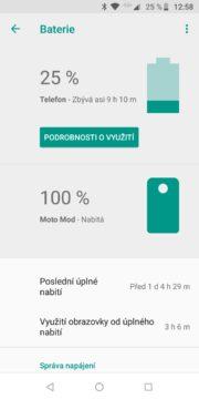 Motorola Moto Z3 Play nabíjení