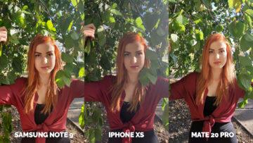 Nejlepší fotomobil test apple iphone xs vs huawei mate 20 pro vs samsung galaxy note 9 modelka u stromu