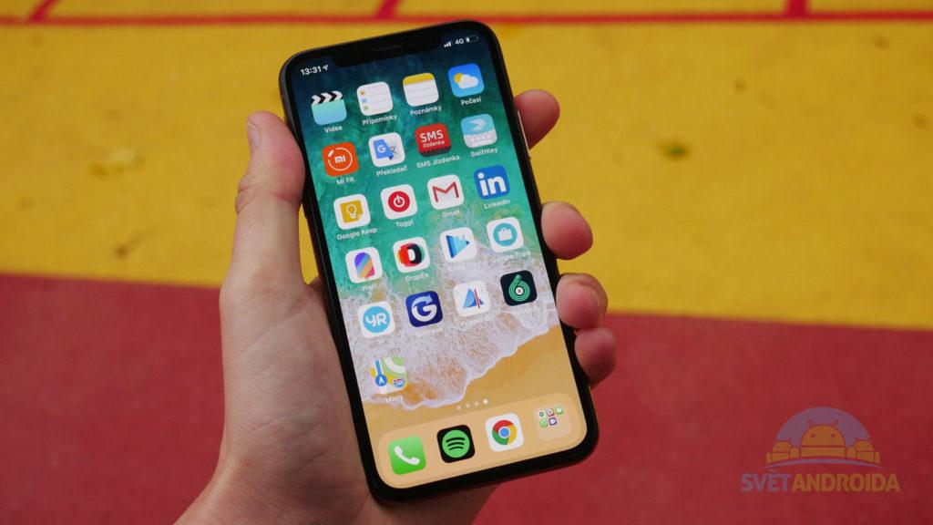 iphone XS ovládání