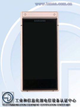 Samsung W2019 bez 3,5mm jacku - přední strana