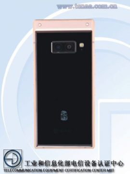 Samsung W2019 bez 3,5mm jacku - zadní strana