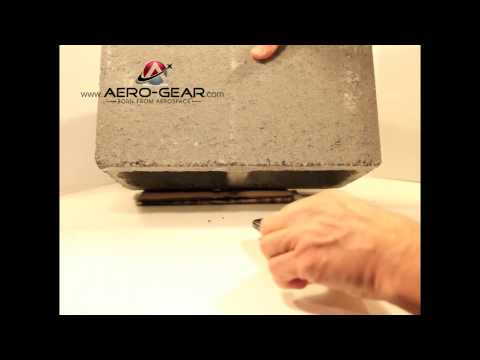 Aero-Gear's Flight Glass SX (Sapphire Crystal) vs. a Concrete Block