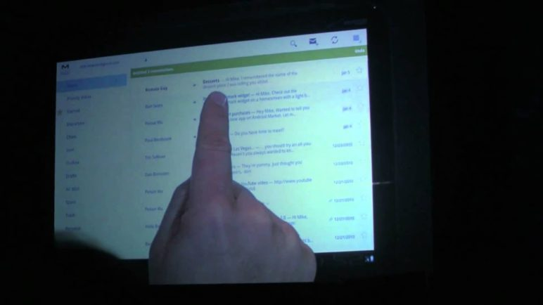 Android Honeycomb Showcased at Verizon's CES 2011 Keynote