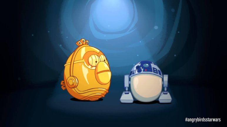 Angry Birds Star Wars: R2-D2 & C-3PO - exclusive gameplay