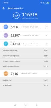 Antutu 2 Xiaomi Redmi Note 6