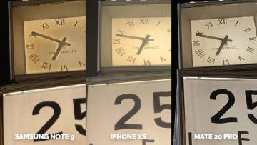 apple iphone xs vs huawei mate 20 pro vs samsung galaxy note 9 nocni fotografie detail
