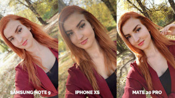 apple iphone xs vs huawei mate 20 pro vs samsung galaxy note 9 selfie fotky