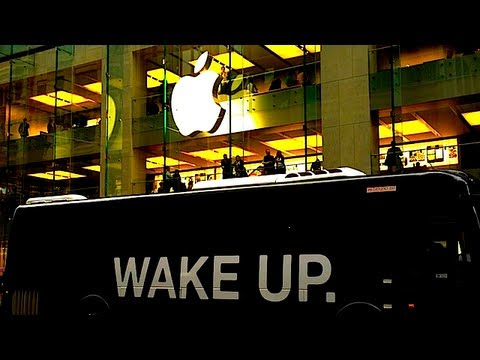 "APPLE STORE PROTEST... ""WAKE UP""?"