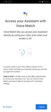 Asistent Google Voice Match
