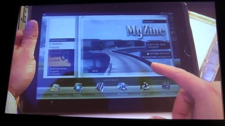 ASUS Eee Pad Transformer Tablet Notebook Combo Demo'ed at CES