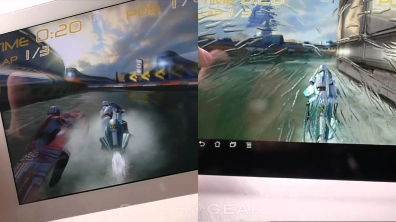 ASUS Transformer Prime vs iPad 2, Riptide GP Demo