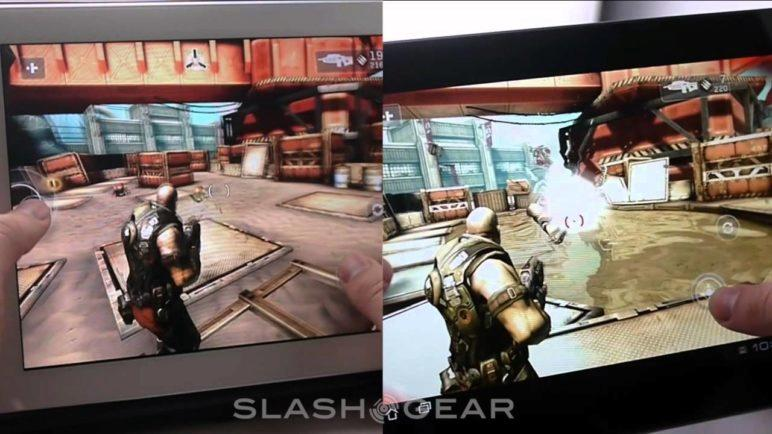 ASUS Transformer Prime vs iPad 2, SHADOWGUN demo