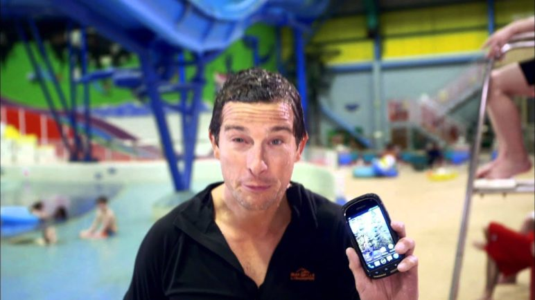 Bear Grylls and Kyocera Torque vs. a Wild Waterpark