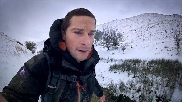 Bear Grylls in action with the Kyocera Torque